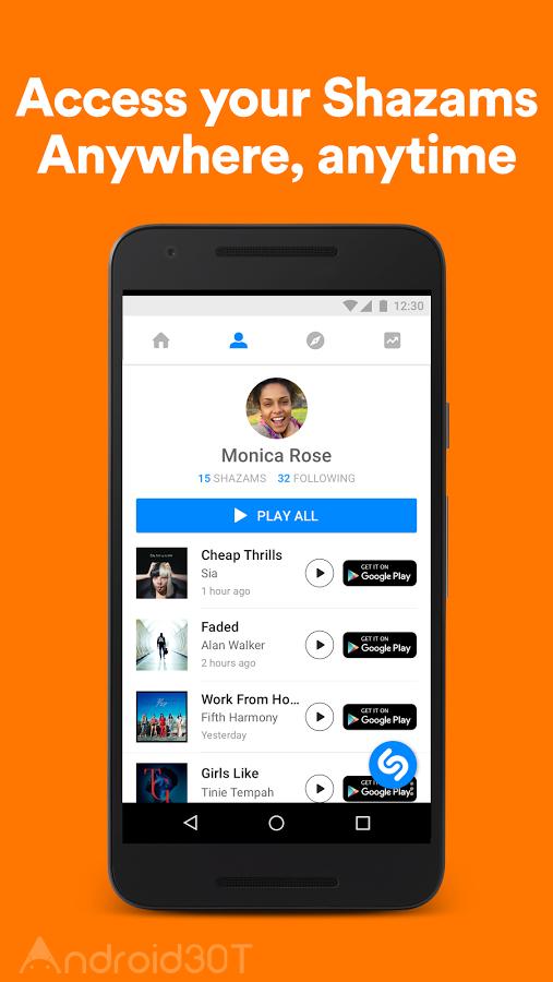 دانلود شازم Shazam 11.21.0 اپلیکیشن پیدا کردن خواننده آهنگ