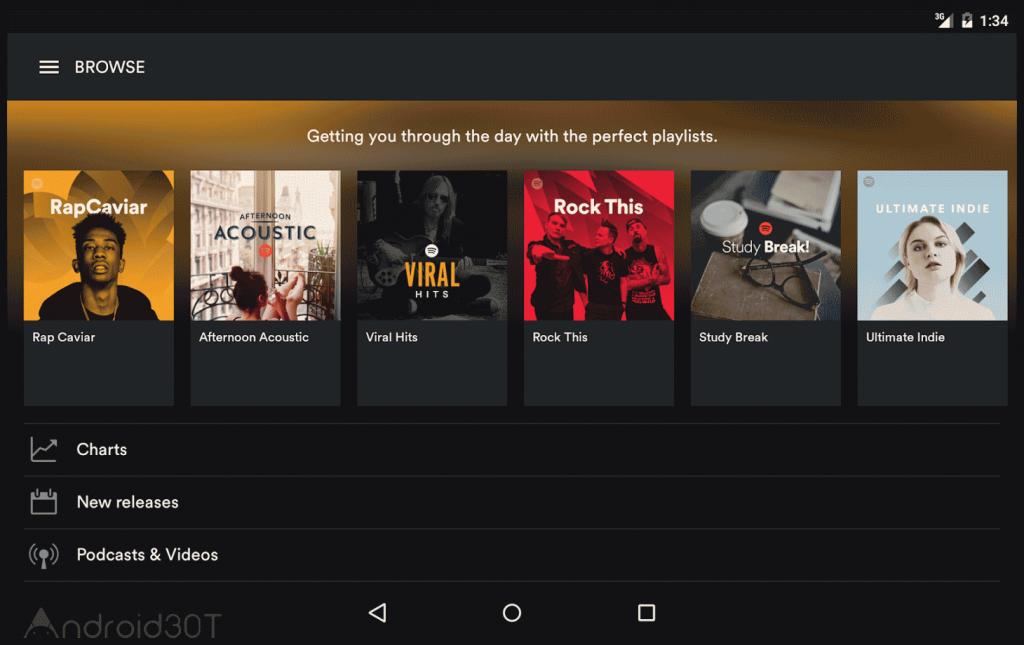 دانلود اسپاتیفای موزیک 2021 جدید Spotify 8.6.16.1041 اندروید