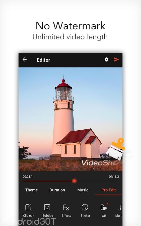 دانلود آپدیت ویدئوشو VideoShow Pro 8.6.8rc ویرایشگر ویدئو اندروید