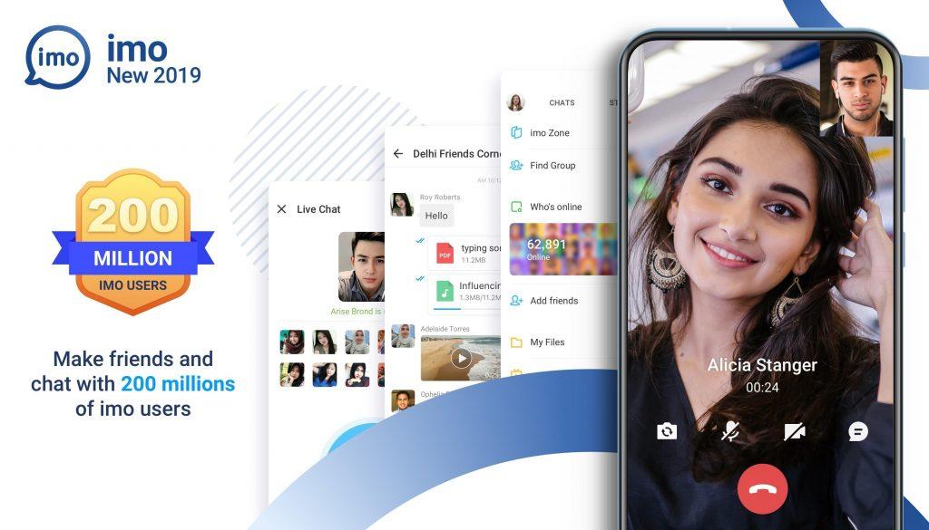 دانلود آخرین نسخه ایمو اندروید imo messenger 2019.7.11 تماس تصویری