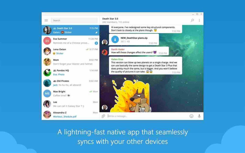 دانلود تلگرام کامپیوتر Telegram Desktop 2.4.3 (Win/mac/Linux)