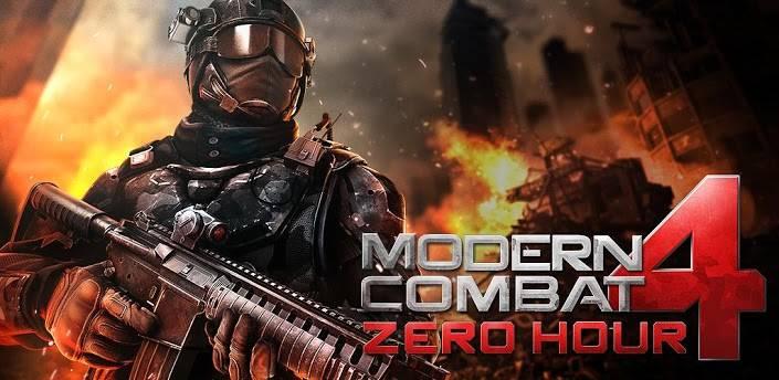 دانلود بازی کامبت 4 اندروید Modern Combat 4: Zero Hour v1.2.3e +مود و دیتا