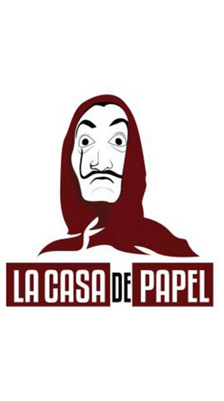 تصویر پس زمینه سریال لا کاسا La casa wallpaper برای گوشی
